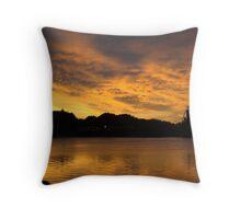 sunset over pleasureland Throw Pillow