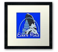 Elsa's place - Disney castle Framed Print