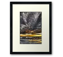 Metallic Sunset Framed Print