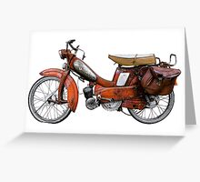 Vintage French Motobecane Moped Greeting Card