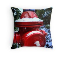 Hydrant Chills Throw Pillow