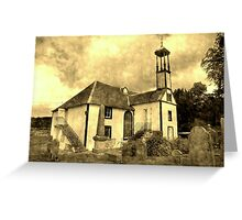 Dalserf Kirk , an aged look  Greeting Card