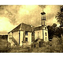 Dalserf Kirk , an aged look  Photographic Print