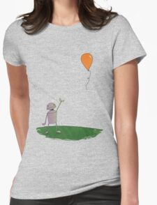 Sad Robot - The Balloon Womens Fitted T-Shirt