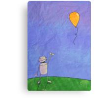 Sad Robot - The Balloon Canvas Print