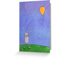 Sad Robot - The Balloon Greeting Card