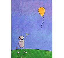 Sad Robot - The Balloon Photographic Print