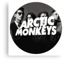 Arctic Monkeys Circle Canvas Print