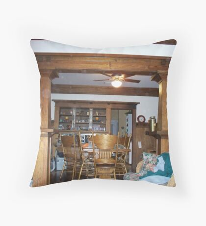 My Doorway beween the dining room and kitchen Throw Pillow