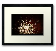 Glass Rays Framed Print