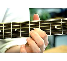 Fingers on a Fretboard Photographic Print