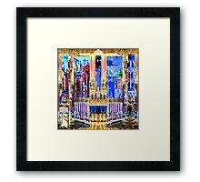 FUTURE PAST AND PRESENT - Carnival Night series Framed Print
