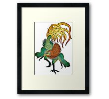 Jinfengopteryx - Golden Phoenix Wing Framed Print