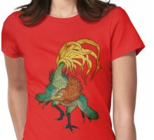 Jinfengopteryx - Golden Phoenix Wing Womens Fitted T-Shirt
