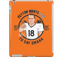 VICTRS - Say Omaha iPad Case/Skin