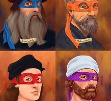 The Renaissance Ninja Artists by gabebush