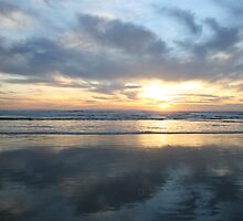 Pismo Beach, California Sunset, 2007. by JANICE SCHULZ