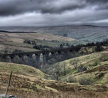 A Train Bridge In The Yorkshire Dales by Dan Squires