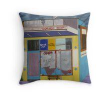 Corner Shop Throw Pillow