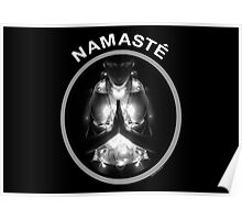 N A M A S T E (for dark colors) Poster
