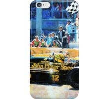 1986 Spanish GP F1 Senna vs Mansell  iPhone Case/Skin