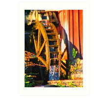 Water Wheel Art Print