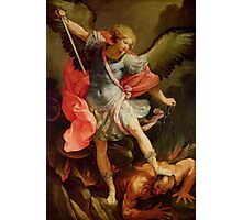 St. Michael slays a demon. Photographic Print