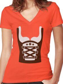 Dirndl Oktoberfest Women's Fitted V-Neck T-Shirt