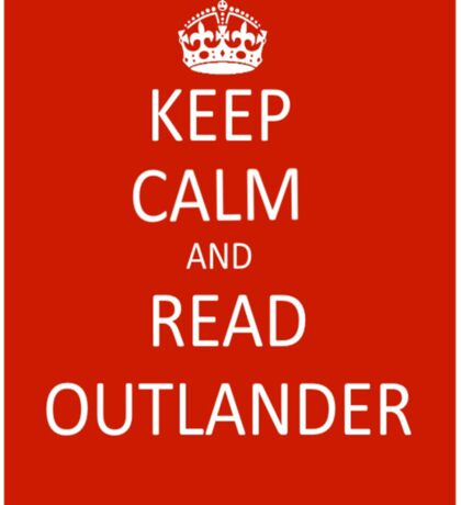 Keep Calm and Read Outlander Sticker