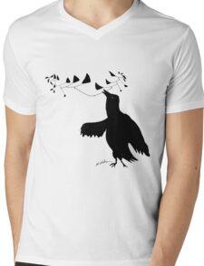 Smart Bird Mens V-Neck T-Shirt