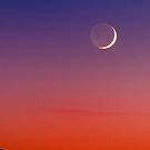 Grand Crescent Moonset by FortPhoto