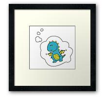 Imagine Dragons - Blue Cartoon Version! Framed Print