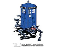 Two Time Machines | The TARDIS & the Terminator Photographic Print