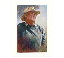Portrait of Alan Coulson Art Print
