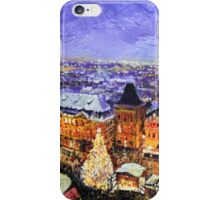 Prague Old Town Square Christmas market iPhone Case/Skin