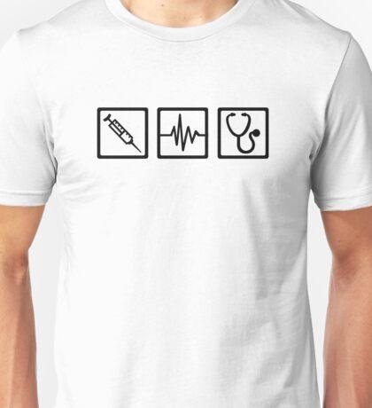Medical equipment stethoscope syringe Unisex T-Shirt