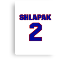 National football player Boris Shlapak jersey 2 Canvas Print