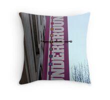 Underground Street Banner Throw Pillow