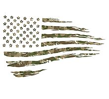 Camo Flag 1  Photographic Print