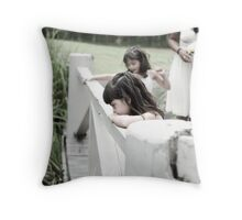 Bored? Throw Pillow