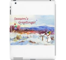 Season's Greetings from me to you! iPad Case/Skin