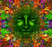 PAGAN GREEN MAN by FieryFinn77