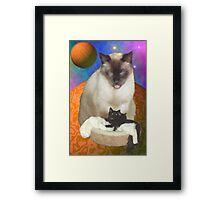Cats in Space 8 Framed Print
