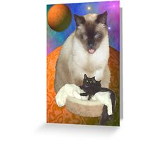 Cats in Space 8 Greeting Card