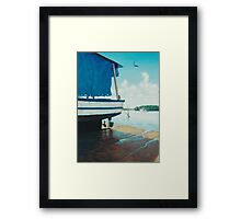 Ol' Blue Tarp Framed Print