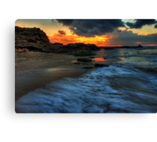 ceaserea sunset Canvas Print