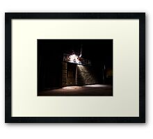 Come to the Side Door at Midnight Framed Print