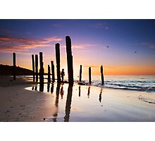 Port Willunga Sunset Photographic Print