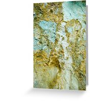 Yellow and Blue Rocks #1 Greeting Card