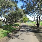 The Long River Path!  Geelong, Vic. Australia. by Rita Blom